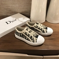 Dior Oblique Embroidered Cotton Walk n Dior sneaker Girls Boys Kids Toddler shoe