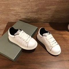 Alexander McQueen Kids contrast heel counter leather trainers Children Toddler