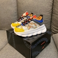 Young Versace Multi-coloured baroque low-top Children Girls Boys Toddler sneaker