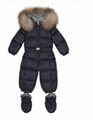 MONCLER ENFANT Baby Fur-trimmed down onesie down-filled coat Children Girls Boys