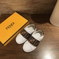 FENDI KIDS Velcro Ff Monogram touch strap sneakers Children Girls Boys Toddler