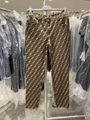 FENDI zucca Stretch-jacquard skinny pants men women fashion brand trousers sale