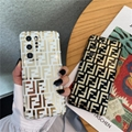 FENDI Canvas-trimmed embossed leather iPhone 11 Pro case fashion luxury brand
