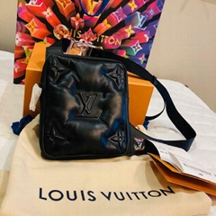 Louis Vuitton Asymmetrical Sling Bag black Virgil Abloh Cross Body 2054 M68773