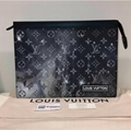 Louis Vuitton Damier Cobalt Race Pochette Voyage MM N60241 Eclipse Clutch Bag LV