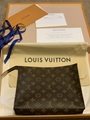 Louis Vuitton Toiletry Pouch 26 Monogram Canvas Clutch Purse Bag M47542 wallet
