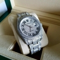 Rolex Datejust Diamond Steel 41mm Men s Watch 126300 ICED OUT PAVED DIAL ROMAN