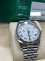 Rolex Datejust 116234 White Roman Dial Stainless Steel Box Papers luxury watches
