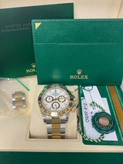 Rolex Daytona 116503 White Dial 18K Yellow Gold Stainless Steel Box Papers 2020 (Hot Product - 1*)