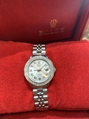 Ladies Rolex Oyster Perpetual Datejust Watch 6517 Stainless Steel 26mm Silver