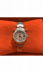 Ladies Rolex Oyster Perpetual Datejust Watch 6516 Stainless Steel 26mm Pink MOP