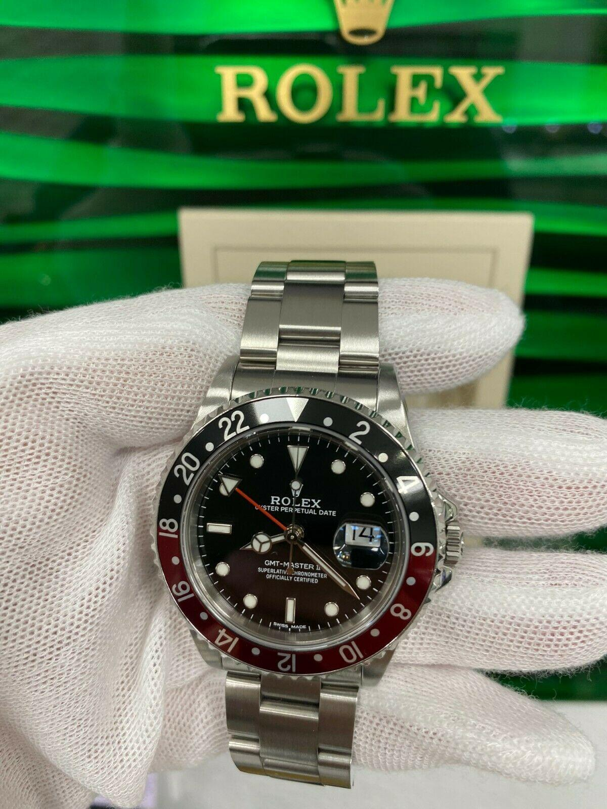 Rolex GMT Master II 16710 Red and Black Coke Stainless Steel Service Paper & Box 4