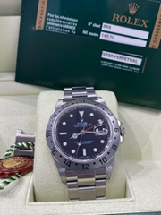 Rolex Explorer II Stainless Steel Black Dial Mens 40mm Automatic Watch F 16570