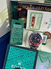 Rolex GMT Master II Pepsi Bezel Y Series 16710 Solid End Links Complete MINT