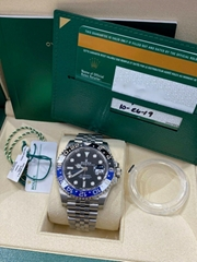 Rolex GMT Master II 126710BLNR Batman Jubilee Stainless Steel Box Paper luxury