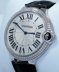 CARTIER Ballon Bleu we902056 18K White Gold 40mm Factory Diamond Bezel BOX/PAPER
