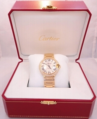 Cartier Ballon Bleu 36mm Medium Size WE9004Z3 18K Y Gold fact Diamond Bezel