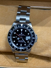 Rolex GMT Master II 16710 Black Dial Stainless Steel Complete Box Papers
