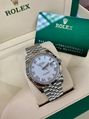 Rolex Datejust 126334 41mm Jubilee Blue Diamond Dial 18K W Gold Bezel luxury