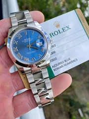 2020 Rolex Datejust 126300 Blue 41mm Stainless Steel w/ Rolex Warranty card sale