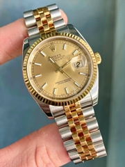 Rolex Datejust 116233 Steel/18k Champagne Dial Jubilee Bracelet Papers cheap