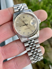 1991 Rolex Datejust 16234 Factory Original Diamond Dial 36mm men luxury brand