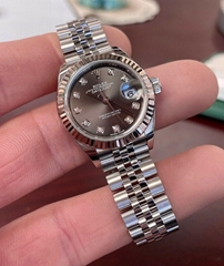 Rolex Datejust 28mm 279174 Gray Rhodium Diamond Dial w/ Box & Papers