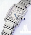 Ladies SS Cartier Tank W51008Q3 with Natural Diamonds Complete with Box & Papers