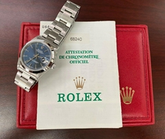 1999 Rolex Datejust 31mm Midsize 68240 Blue Dial Steel with Box & Papers luxury