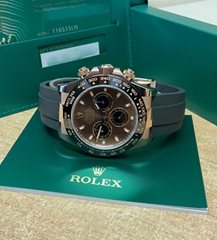 Rolex Daytona 116515LN Rose Gold 40mm Oysterflex 2020 With Papers cheap luxury