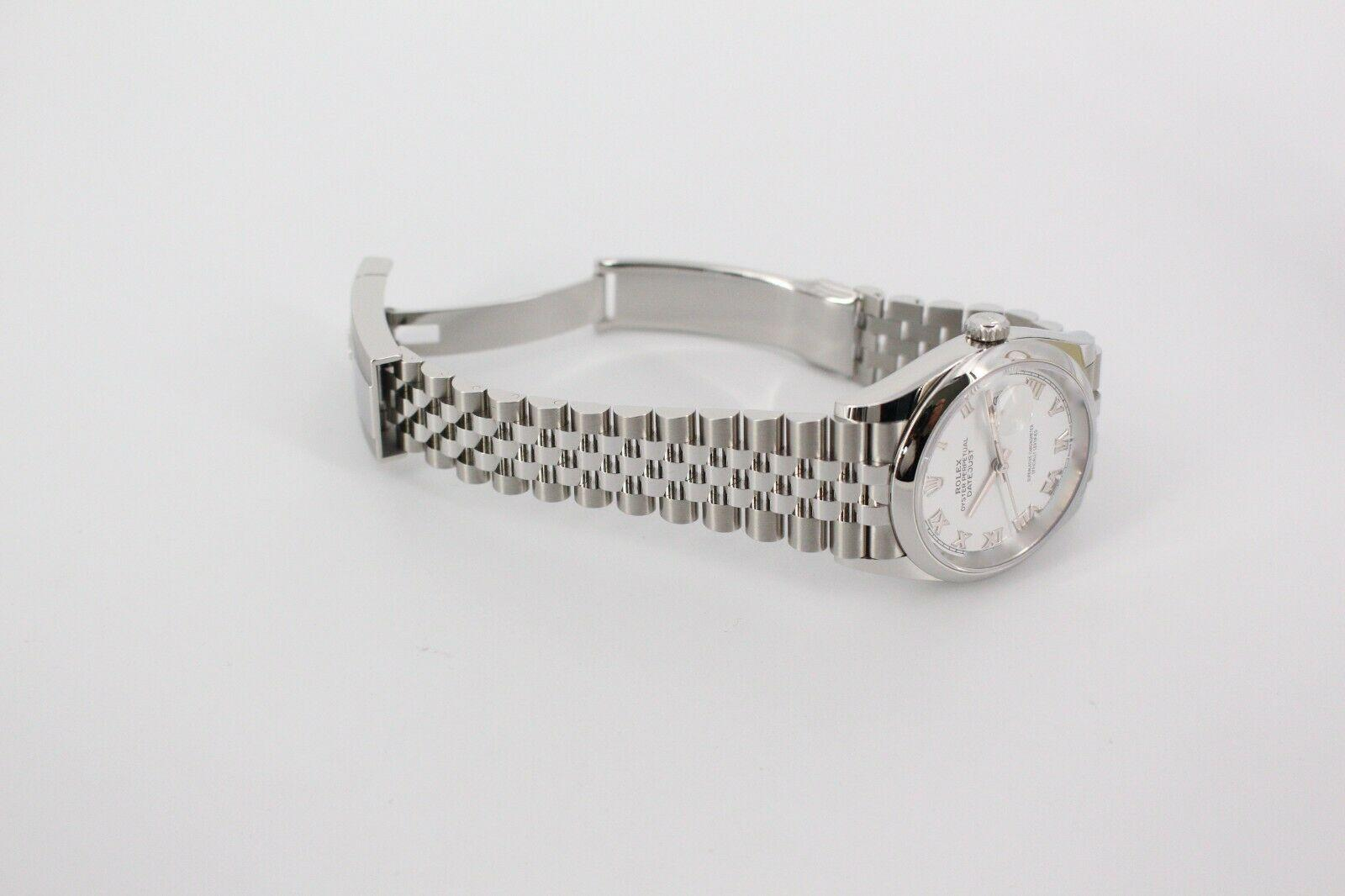BRAND NEW Rolex Datejust 126200 Si  er Dial Stainless Steel Box Papers 12