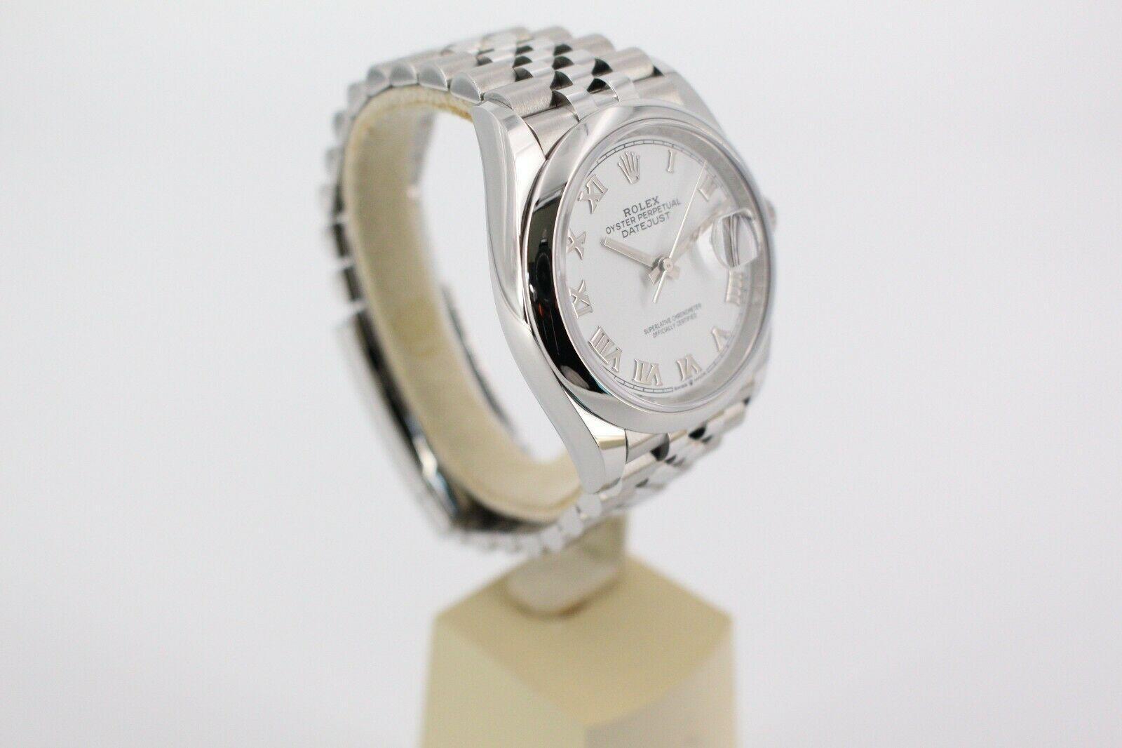 BRAND NEW Rolex Datejust 126200 Si  er Dial Stainless Steel Box Papers 15