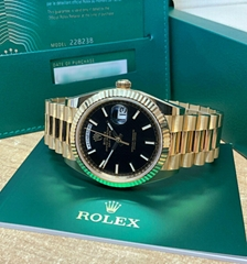 Rolex Day Date 40mm 228238 Yellow Gold Black Dial 2020 Swiss automatic men watch