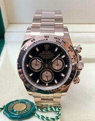 Rolex Daytona Rose Gold 116505 Black Dial 40mm 2020 With Papers swiss automatic