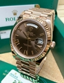 Rolex President 40mm Day-Date 228235 18K Rose Gold White Roman Dial Watch luxury
