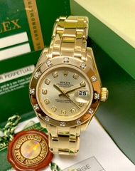 Rolex Pearlmaster 29mm 80318 Yellow Gold Diamond Dial With Papers swiss brand