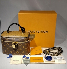 Louis Vuitton Monogram Reverse Vanity Nv Pm 2Way Handbag Strap Shoulder Bag LV