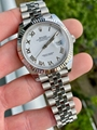 Rolex Ladies Datejust 69173 MOP Diamond Dial 18K Yellow Gold Stainless Steel