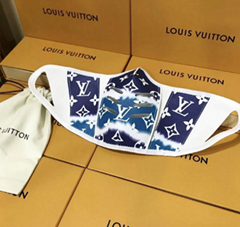Louis Vuitton Escale Collection Face Mask Leather Face Mask Genuine LV Leather