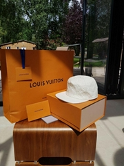 Louis Vuitton ss19 Virgil Abloh White Leather Monogram Blanc Baseball Cap hats