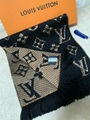 Louis Vuitton muffler Escharp mania Shine Monogram Giant Jungle Logomania Scarf