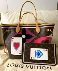 LOUIS VUITTON Neverfull MM Tote Bag Pouch Game On Monogram Trump M57452 luxury