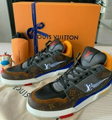 DS Louis Vuitton Trainer Sneaker Blue Multicolor US Men 8-13 LV Air Retro 4 Nigo