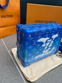 New Louis Vuitton Monogram Blue Clouds Soft Trunk Wallet Wallet Bag VIRGIL ABLOH