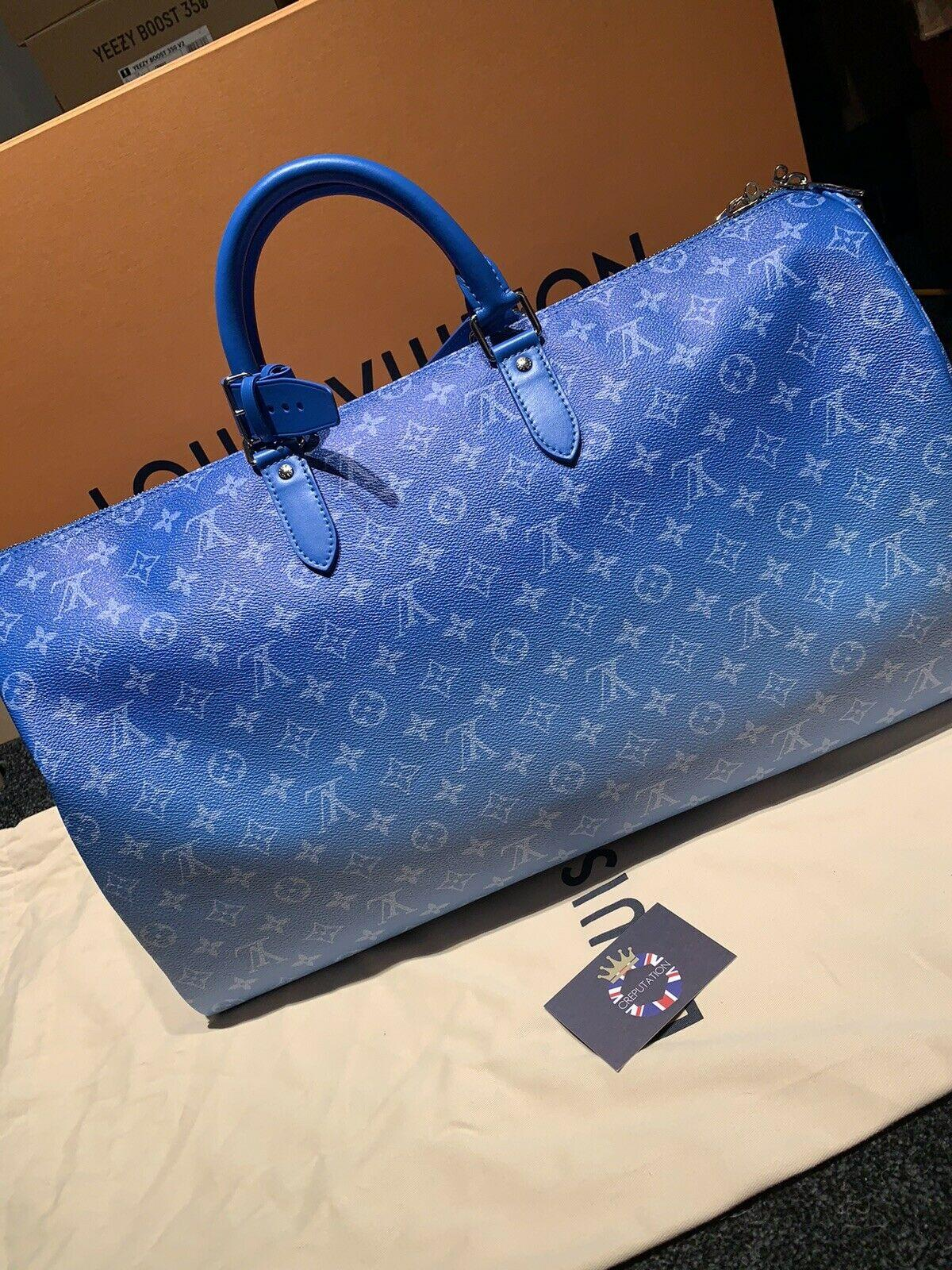 LOUIS VUITTON KEEPALL BANDOULIÈRE 50 Monogram CLOUDS Virgil Abloh M45428 handbag