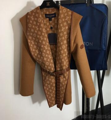 Hooded Wrap Coat With Belt Ready to Wear LOUIS VUITTON