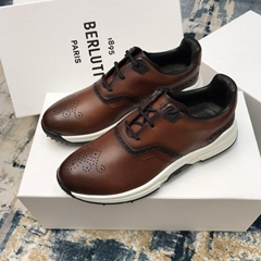 Berluti Fast Track Leather Sneaker Low-cut Incollato construction luxury shoes