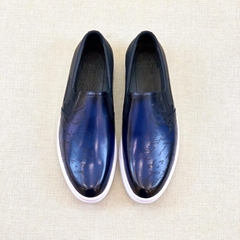Berluti Playtime Leather Slip-on Playtime Low-Cut Slip-on Incollato construction