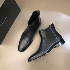 Berluti Classic Dune Leather Chelsea Boot men luxury brand designer ankle boots