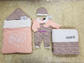 Check Cotton Baby Nest baby blanket bodysuit kids gift set Swaddle suit 6